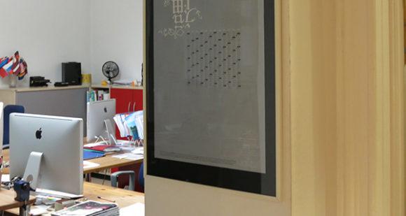 Blich in die Arbeitsräume der Agentur für Kommunikation zappo, die neue Adresse des Sustainable Design Center e.V.